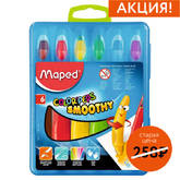 Мелки гел. 6цв.MAPED 836111 COLORPEPS