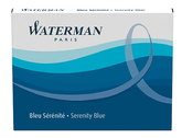 Баллончики WATERMAN 52002,S0110860 CARTRIDG син.8шт.