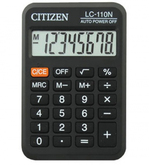 Калькулятор  8р.CITIZEN LC-110N/NCFS,NR 88*58*11мм