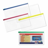 Папка-конверт на молн.Е65 254*125  ERICH KRAUSE 4563 Travel евро 0,14мм прозр.ассорти