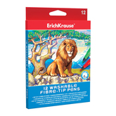 Фломастеры 12цв.ERICH KRAUSE 38564 ARTBERRY Easy Washable карт.
